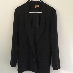 Women's long black blazer by PIKO 1988. Size M
